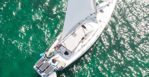 Beneteau sailboat sailing Miami