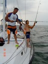 Fishing on sailing charter