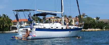 Semi Private Shared Sail Boat Charter for couples in Miami Beach