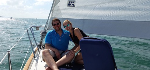 Private romantic sailing for 2 in Miami Beach