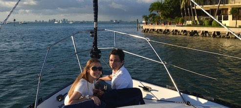 romantic boat proposal in Miami